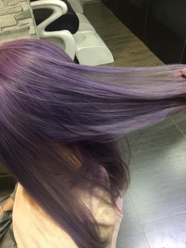 Hair Theorem髮型作品: 紫灰