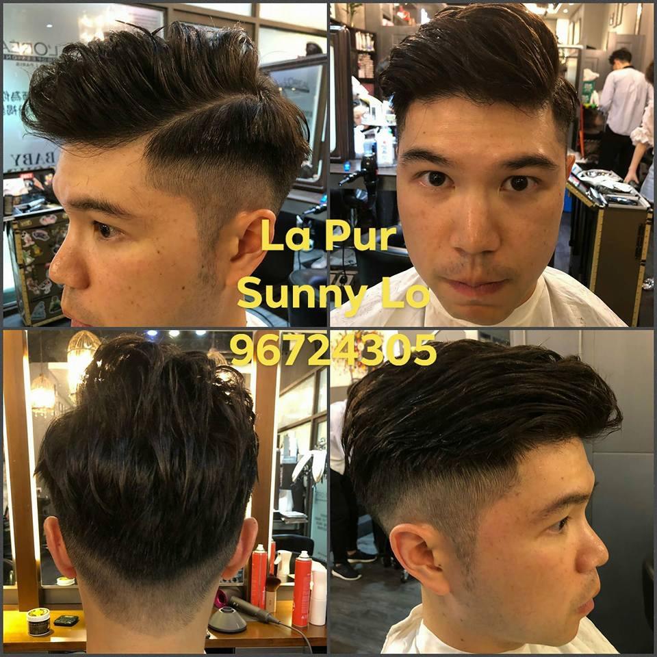 Lá Pur Salon髮型作品: 電出型英帥