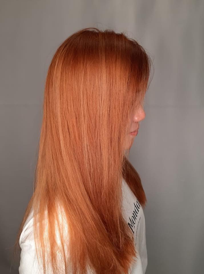 Ming tsui髮型作品: 橙橙橙