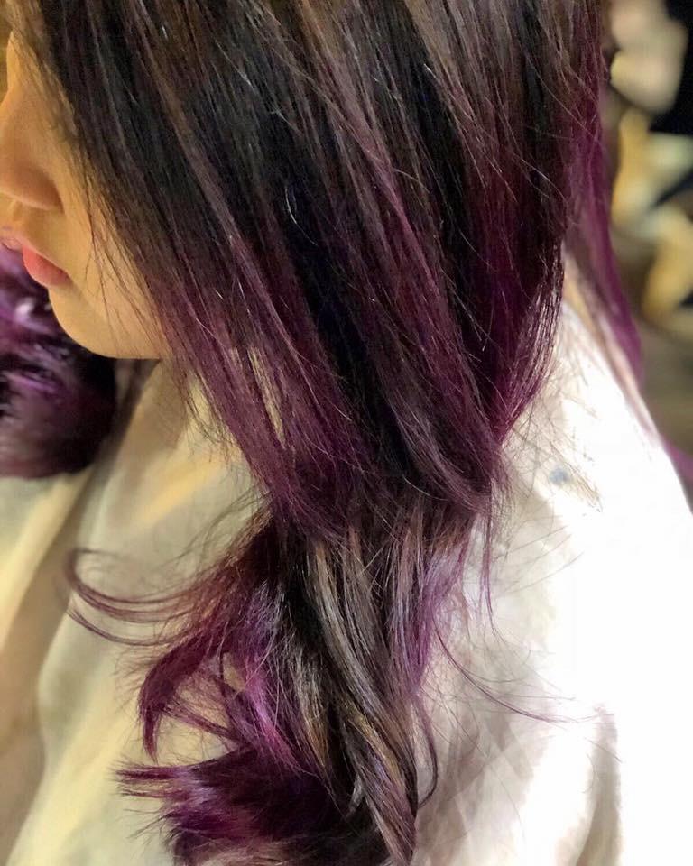 Hair Kiss傳媒報導: 紫紅色❌灰色